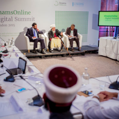 Image ©Licensed to i-Images Picture Agency. 25/03/2015. London. His Eminence Shaykh Abdallah bin Bayyah, attends the ImamsOnline Digital Summit. Picture by Andrew Parsons / i-Images